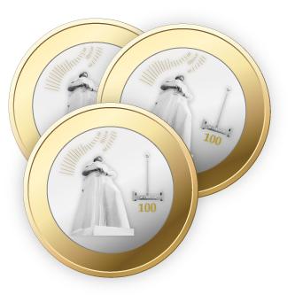 монета к 100 летию мурманска
